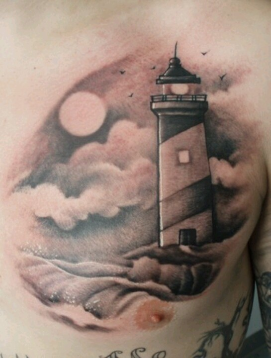 grey ink lighthouse tattoo on foot photo 2 2017 real photo pictures images and sketches. Black Bedroom Furniture Sets. Home Design Ideas
