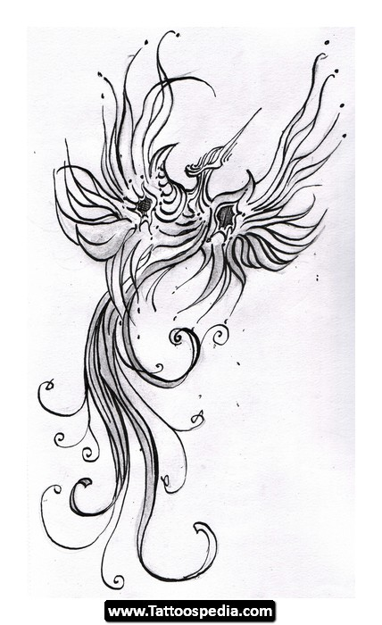 Grey Ink Unicorn With Wings Tattoo For Men