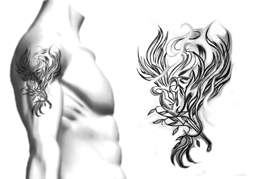 grey phoenix tattoo sketch in 2017 real photo pictures images and sketches tattoo collections. Black Bedroom Furniture Sets. Home Design Ideas