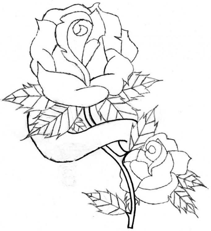 Grey Rose Tattoo On Right Ankle