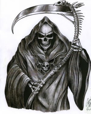 Grim Reaper Tattoo Design On Arm