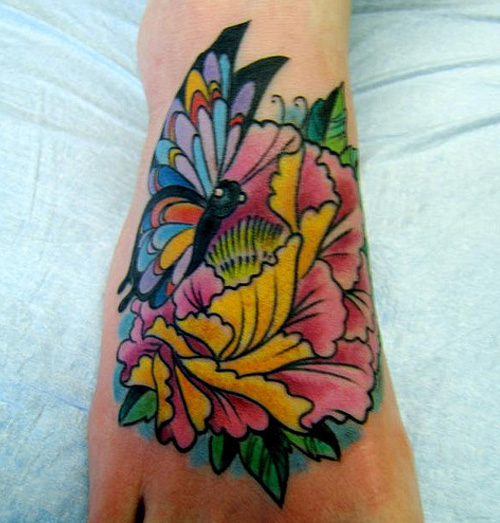 Groovy Lotus Flower Tattoo On Hand