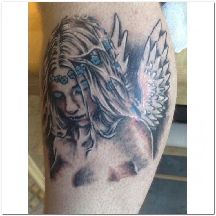 Guardian Angel Tattoo On Shoulder