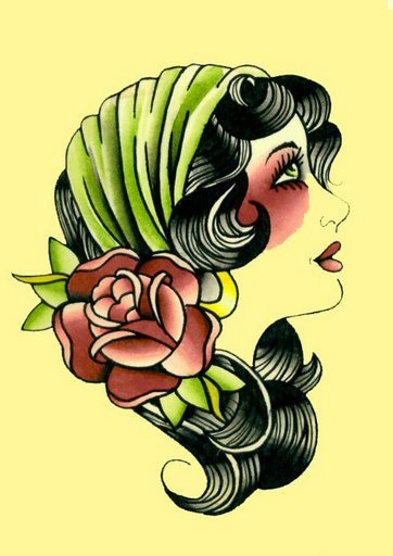 Gypsy Fortune Lady Tattoo Design