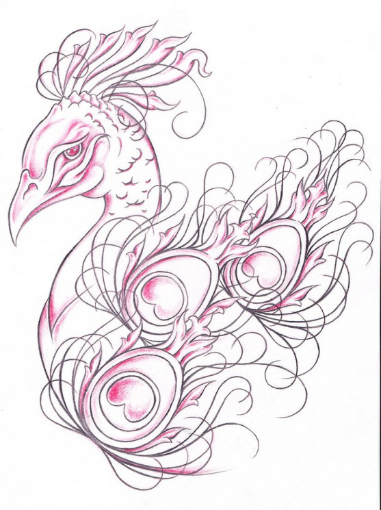 Gypsy Girl With Realistic Heart Tattoo Design