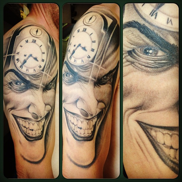 Half Sleeve Joker Tattoo For Men