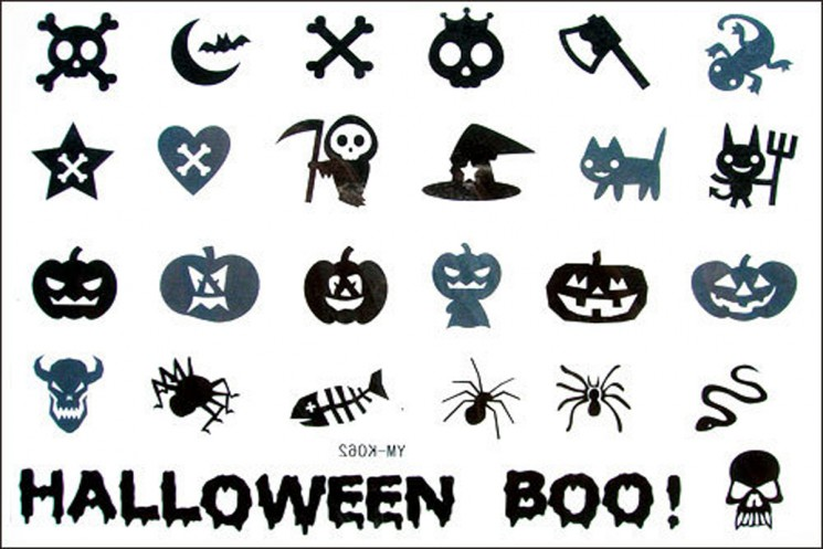 Halloween Boo Tattoo Designs