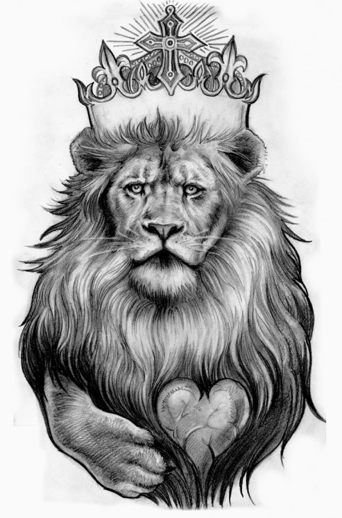 Hand And Lion Tattoo Designs