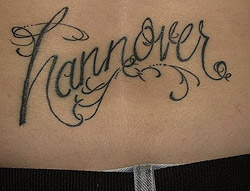 Hannover Map Tattoos On Back