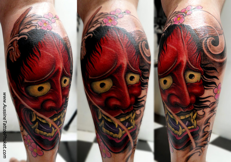 Hannya Mask Tattoo Flash in 2017: Real Photo, Pictures ...