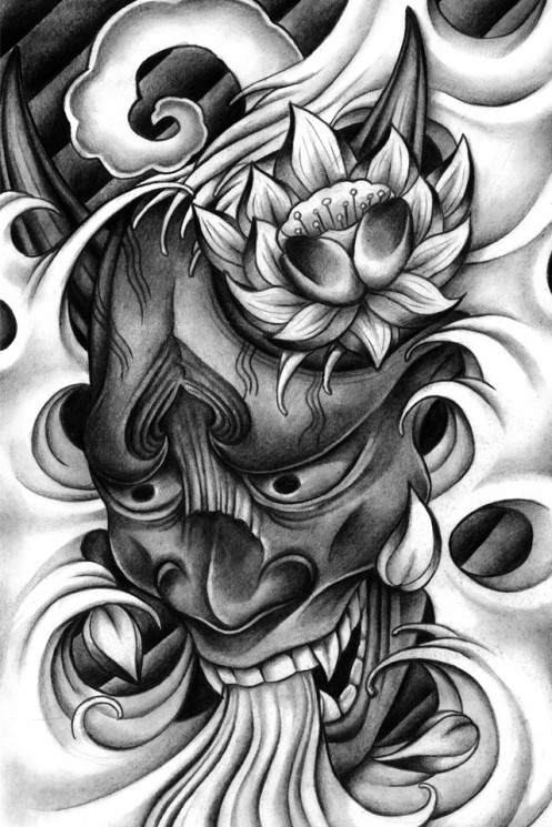Hannya Mask Tattoo Picture