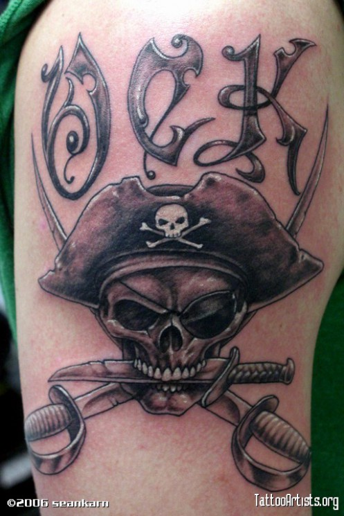 Have A Pirate Skull Tattoo!