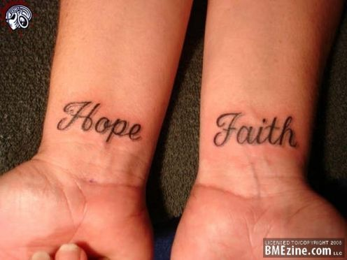 Have Faith In Me Tattoo On Foot
