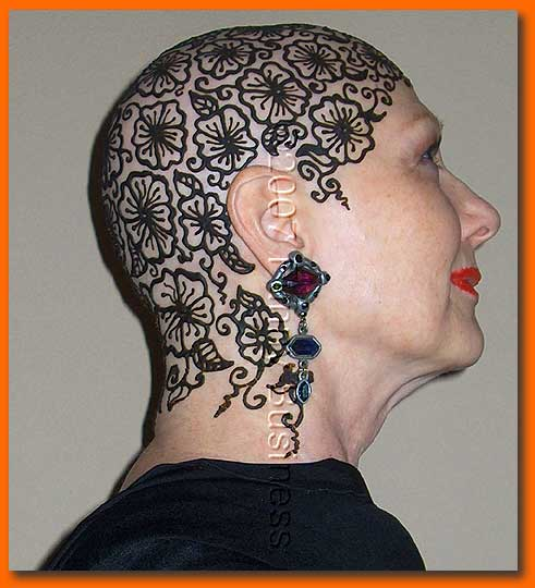 Head Henna Tattoo Design