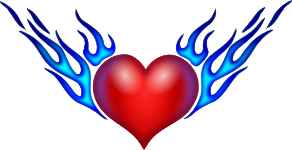 Heart Cross With Wings Tattoo Design