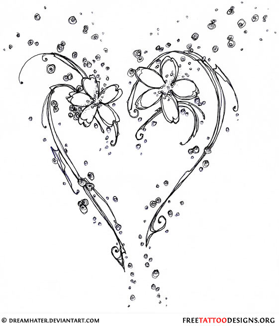 Heart Lock Women Tattoo Design