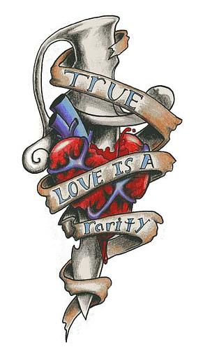 Heart With Dagger Tattoo Sample
