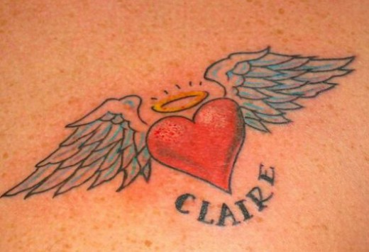 Heart With Memorial Banner Tattoo