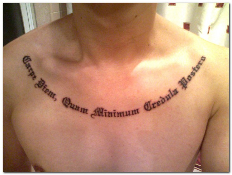 Hebrew Lettering Tattoo On Back Shoulder