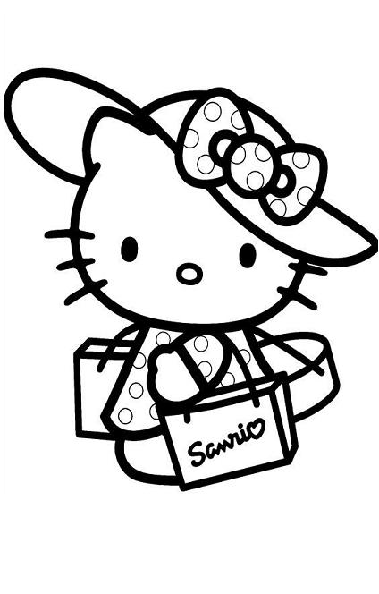 Hello Kitty Tattoo On Hip For Girls