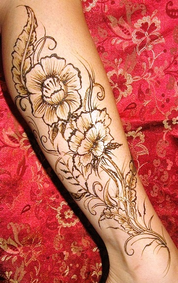 Henna Floral Leg Tattoo Design In 2017 Real Photo Pictures Images