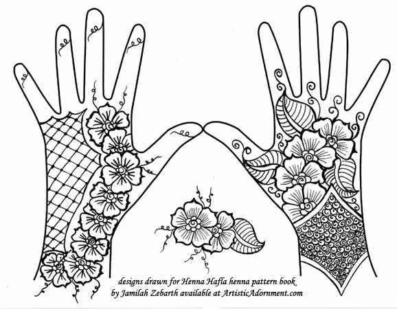 Henna Hand Tattoo Design