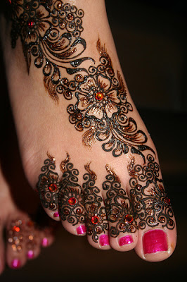 Henna Tattoo Design On Feet