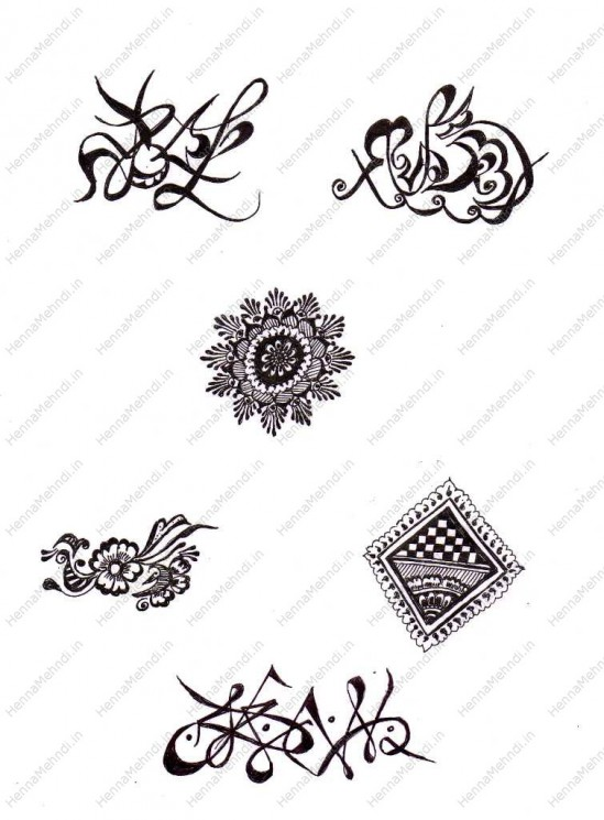 Henna Tattoo Designs On Hand
