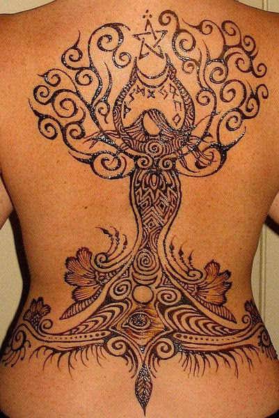 Henna Tree Tattoo For Your Hand