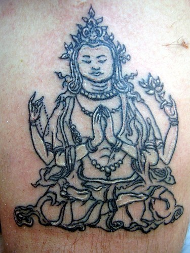 Hinduism Outline Tattoo Design