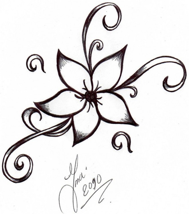 Hinduism Symbol Tattoo On Hip For Girls