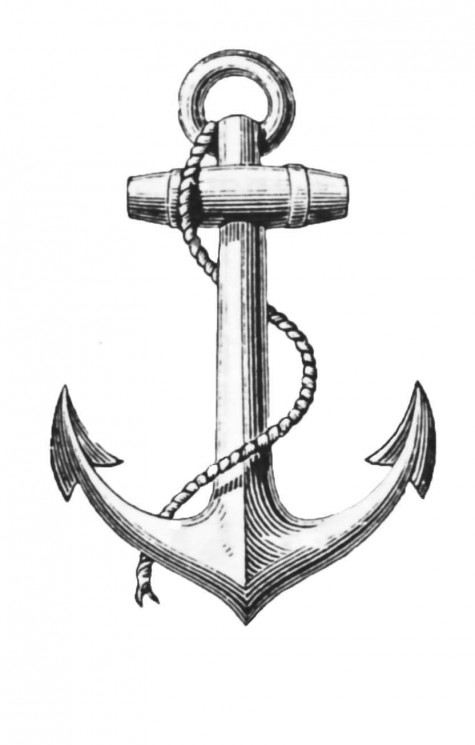 Hold Fast Banner Anchor Tattoo Design With Rope