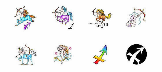 Horoscope Zodiac Astrology Sagittarius Centaur Archer Tattoo Design
