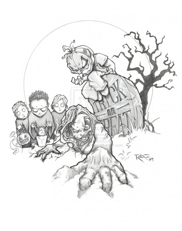 Horror Tattoo Design and Picture