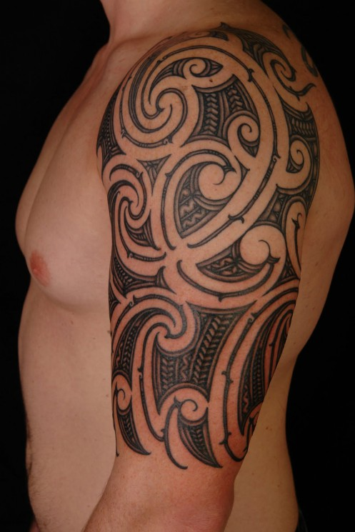 Impressive Panther And Red Tribal Tattoos