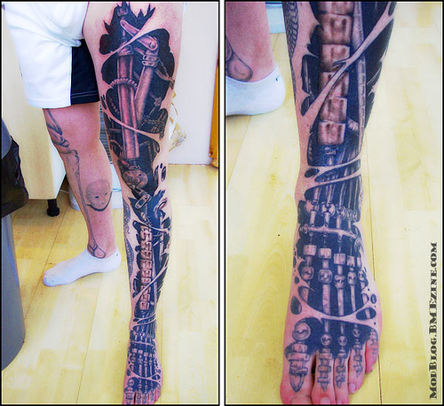 Incredible Skeleton Foot Tattoos