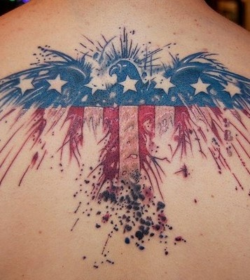 Incredible US Flag And Eagle Tattoos For Guys