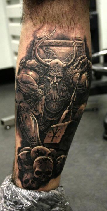Incredible Viking Ship Tattoo