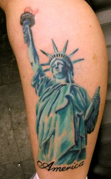 Independance Patriotic Half Sleeve Tattoos