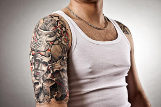 Infected White Ink Tattoo