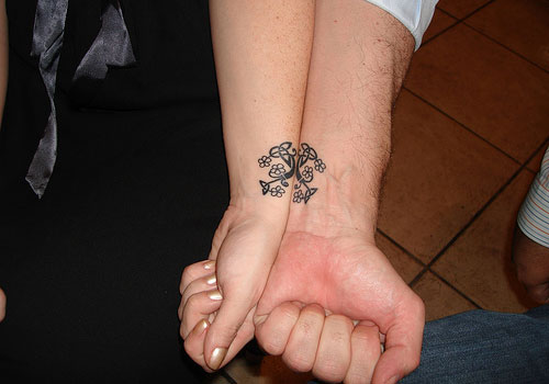 Infinity Rings Tattoo For Couples