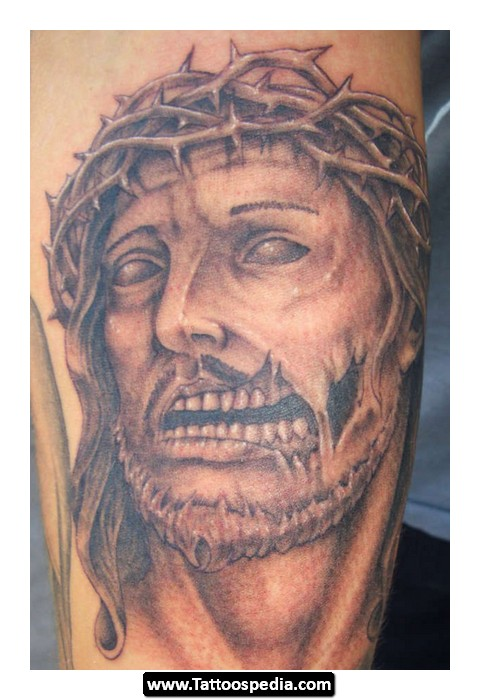 Injured Jesus Sleeve Tattoo