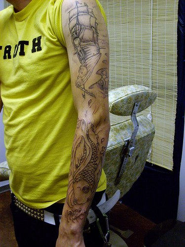 Insect Tattoo On Sleeve