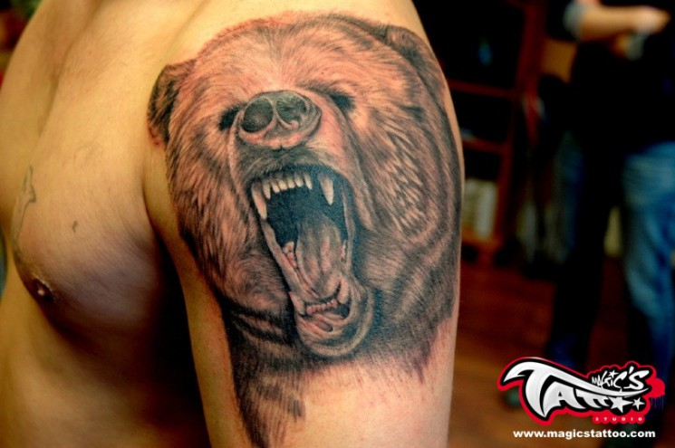 Ireland Bear Tattoo
