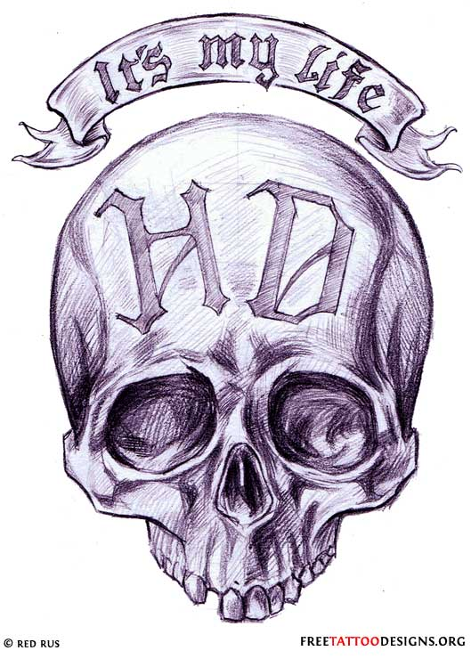 Its My Life Skull Tattoo Design