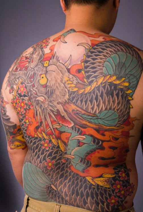 Japanese Dragon Tattoo On Back