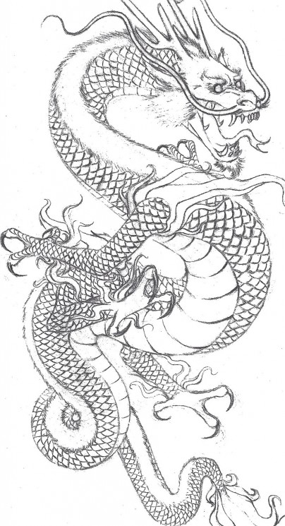 Japanese Dragon Tattoo Sample