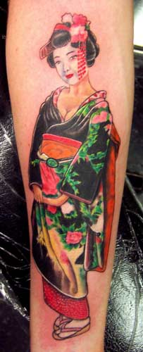 Japanese Geisha Tattoo Image