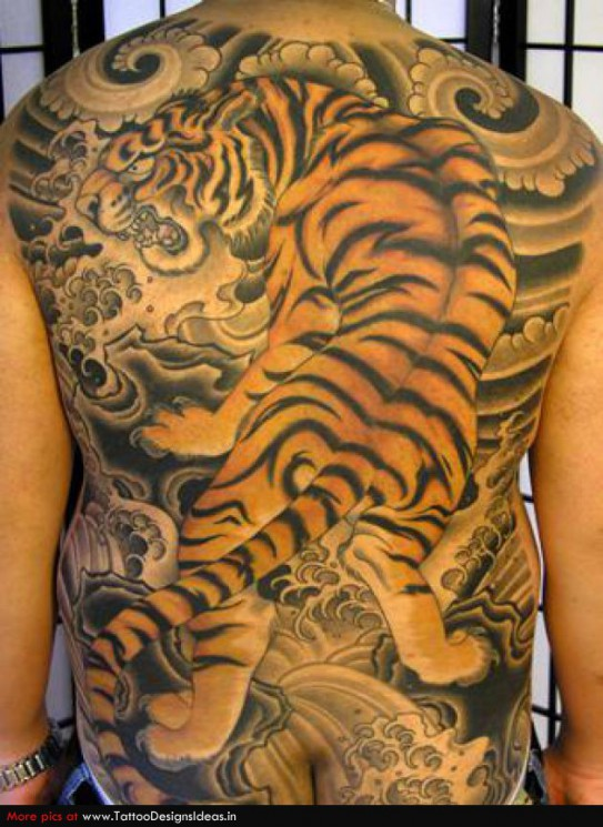 Japanese Tiger Tattoo For Arm