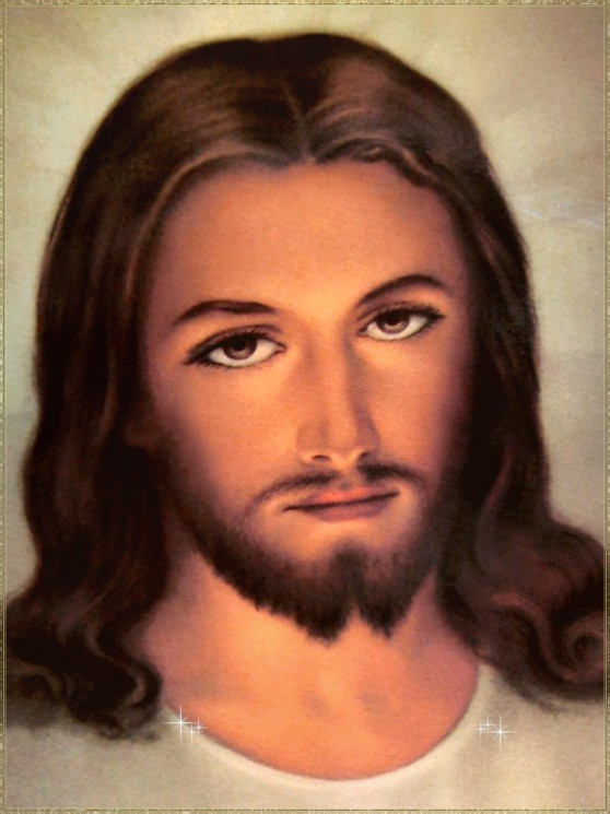 Jesus Face Portrait Tattoo Design